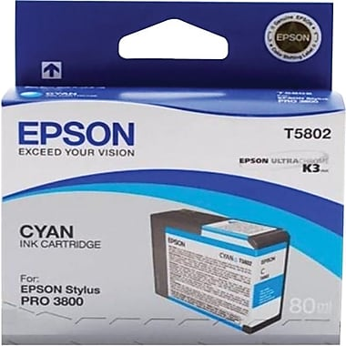 Epson T580 UltraChrome K3 Ink Cartridge, Cyan (T580200)