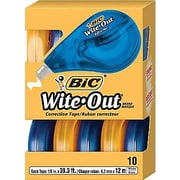 BIC® Wite-Out® Brand EZ Correct Correction Tape, 10/Pack (50790)
