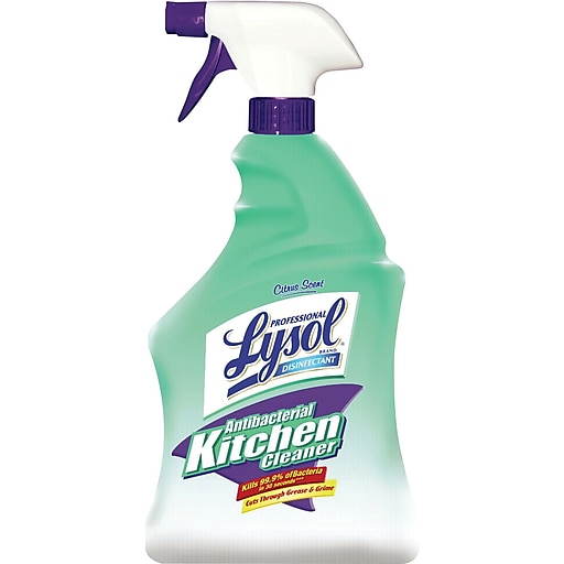 lysol professional antibacterial kitchen cleaner spray 32 oz