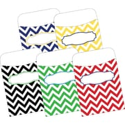 "Barker Creek Nautical Peel & Stick Library Pockets, 3-1/2"" x 5-1/8"", multi-design set, 30/Pack"