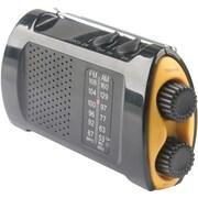 Acme United Emergency Crank AM/FM Radio, AA, Yellow, Black (ACM90423)