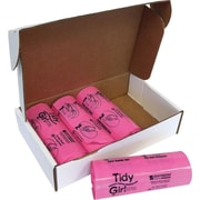 "Stout Tidy Girl Feminine Hygiene Disposable Bags, 7.25"" x 14"", 1.20 mil, Plastic, 600/Box, Pink"