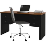 Bestar Somerville Executive Desk , Black & Tuscany Brown