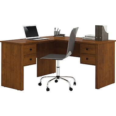 Bestar - Bureau en L de la collection Somerville, brun Toscane