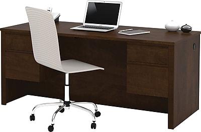 Bestar Prestige+ Double Pedestal Desk, Chocolate
