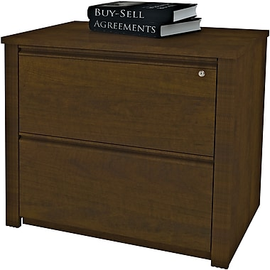 Bestar Prestige + Collection Lateral File Assembled, Chocolate