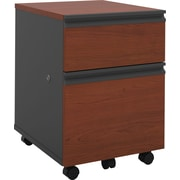 Bestar Prestige + Collection Mobile Pedestal, Bordeaux & Graphite