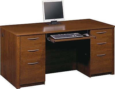 Bestar Embassy Double Pedestal Executive Desk, Tuscany Brown
