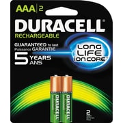 Rechargeable NiMH Batteries with Duralock Power Preserve Technology, AAA, 2/Pk