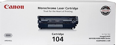 Canon 104 Black Toner Cartridge, (0263B001)