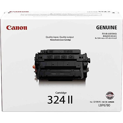 canon 324 ii black toner cartridge 3482b002 high yield staples. Black Bedroom Furniture Sets. Home Design Ideas