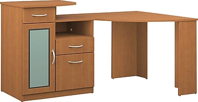 Bush Furniture Vantage Corner Desk, Light Dragon wood (HM66315A-03)