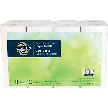 Brighton Professional™ 2-Ply Choose-Your-Size Paper Towels 133 Sheets/Roll 8 Rolls/Case (BPR25453)