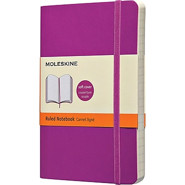 Moleskine Classic Colored Notebook, Pocket, Ruled, Orchid Purple, Soft Cover, 3-1/2