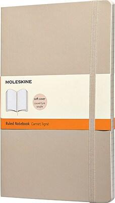 Moleskine Classic Colored Notebook, Large, Ruled, Khaki Beige, Soft Cover, 5