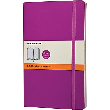Moleskine Classic Colored Notebook, Large, Ruled, Orchid Purple, Soft Cover, 5