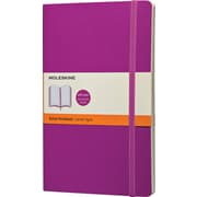"Moleskine Classic Colored Notebook, Large, Ruled, Orchid Purple, Soft Cover, 5"" x 8-1/4"""