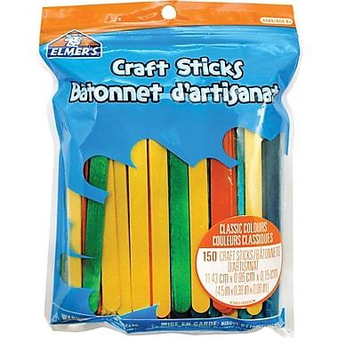Elmer's® Craft Sticks, Classic Colours