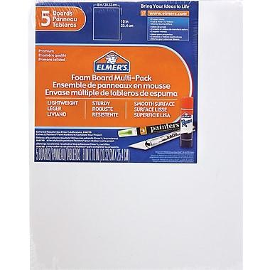 Elmer's® - Tableau en mousse, 8 po x 10 po, paq./5