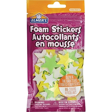 Elmer's® Glow in the Dark Stars Foam Stickers