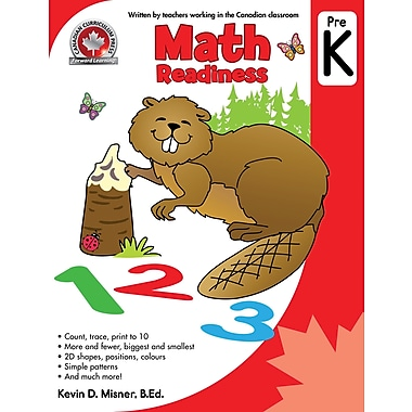 Canadian Curriculum Press Math Workbook, Pre-K