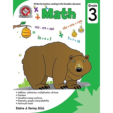 Canadian Curriculum Press Math Workbook, Grade 3 | Staples®