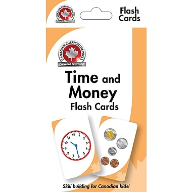 Canadian Curriculum Press Time & Money Flashcards