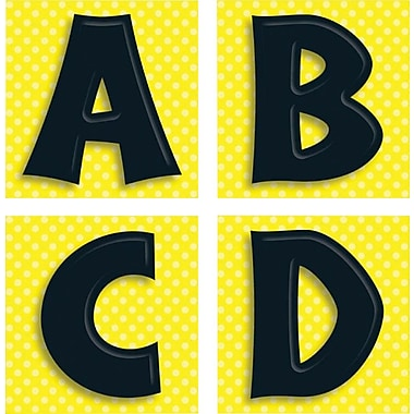 Canadian Curriculum Press Adhesive Letter, Black