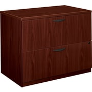 "basyx by HON® BL Series 2 Drawer Lateral File Cabinet, Mahogany, 35.5""W (BSXBL2171NN)"