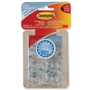 Command™ Mini Clear Hooks with Clear Strips, 18/Pack