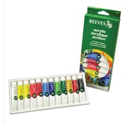Reeves Acrylic Paint, Assorted, 12/Pack
