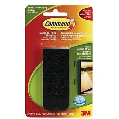 Command™ Picture Hanging Strips, Large, Black