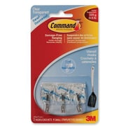 Command™ Small Clear Wire Hooks with Clear Strips