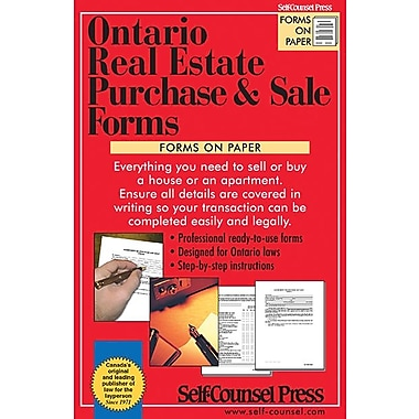 Self Counsel Press – Ontario Real Estate Purchase and Sale Forms