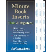 Self Counsel Press – Minute Book Inserts