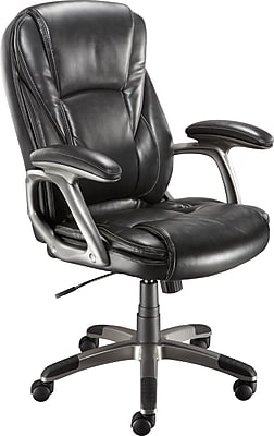 Staples Breeford Bonded Leather Managers Chair, Grey
