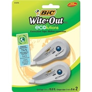 BIC® Wite-Out® Brand ECOlutions™ Correction Tape, 2/Pack