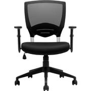 Global Offices to Go Fabric Managers Office Chair, Adjustable Arms, Black (OTG11960B)