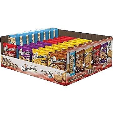 Grandma's® Cookie Variety Pack, 36 Bags/Box (FRI14867)