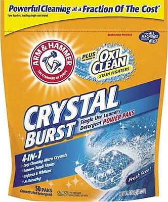Arm & Hammer Plus OxiClean Crystal Burst Power Paks, 50/Pk