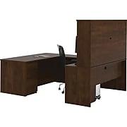 "Bestar® Prestige+ 71"" U-Shape Workstation Kit With 2 Pedestals, Chocolate (99853-69)"