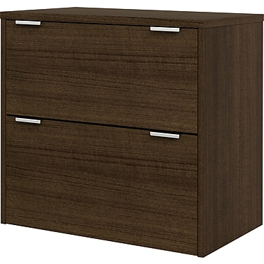 bestar Contempo 2 Drawer Lateral File, Dark Wood,Letter/Legal, 30.12''W (50630-78)