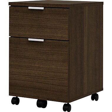 bestar Contempo 1 Drawer Mobile/Pedestal File, Dark Wood,Letter/Legal, 15.5''W (50640-1178)