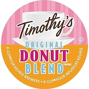 Timothy's® - Godets K-Cup, mélange Original Donut Blend™, paq./ 24