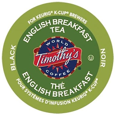 Timothy's® English Breakfast Tea K-Cup Refills, 24/Pack
