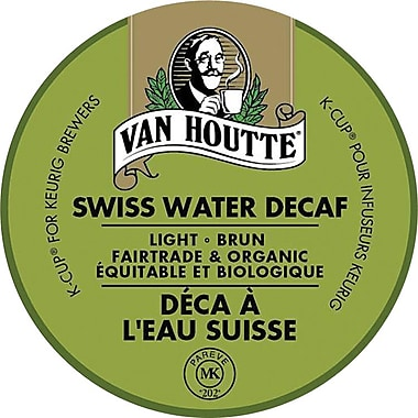 Van Houtte® Swiss Water® Process Decaf Fair Trade & Organic K-Cup Refills, 24/Pack