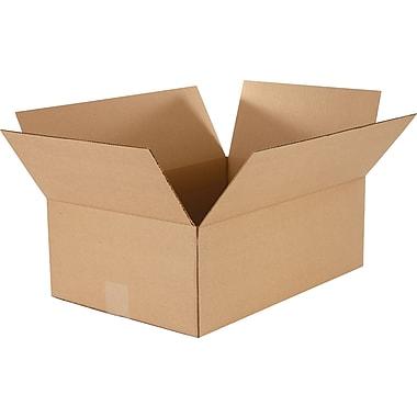 Boîtes en carton ondulé à profondeur variable, 18 po x 12 po x 6 po, 25/lot