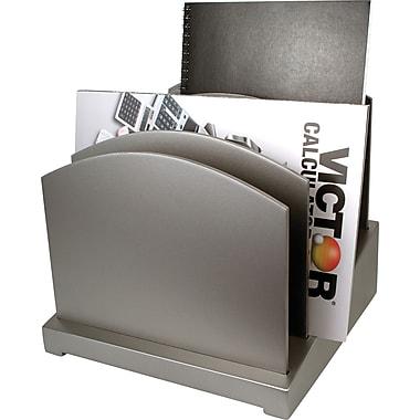 Victor® Wood Incline File Desk Organizer, Classic Silver (S8601)
