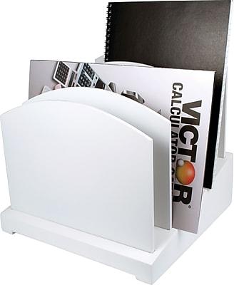 Victor® Wood Desk Organizer, File Organizer, Pure White