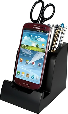 Victor Smart Charge Micro USB Dock™ with Pencil Cup, Black